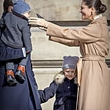 Princess Victoria and Family at Name Day Ceremony March 2017