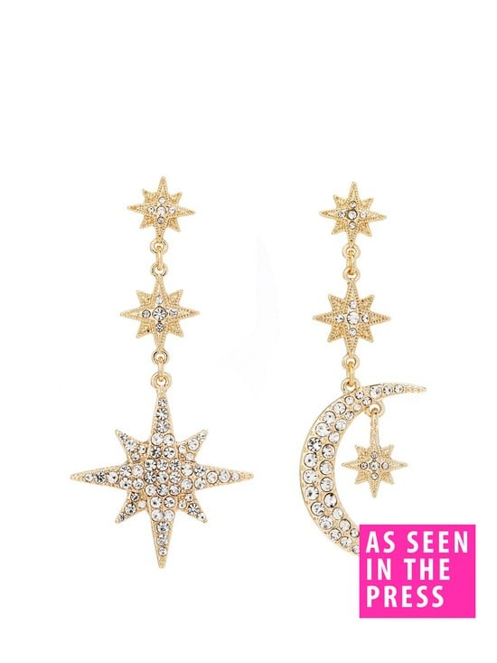Mood Mix And Match Stars And Moon Drop Earrings