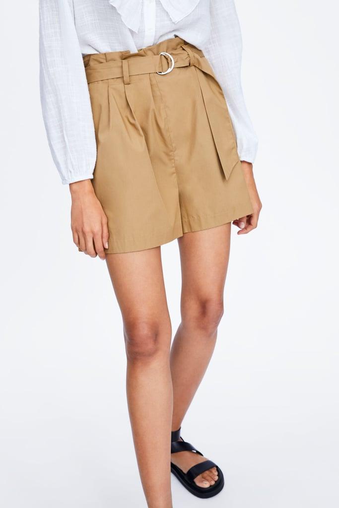 Zara Belted Poplim Bermuda Shorts ($49.95)
