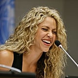Shakira With Blond and Brown Hair September 2015