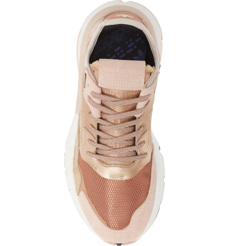 adidas nite jogger sneakers rose gold