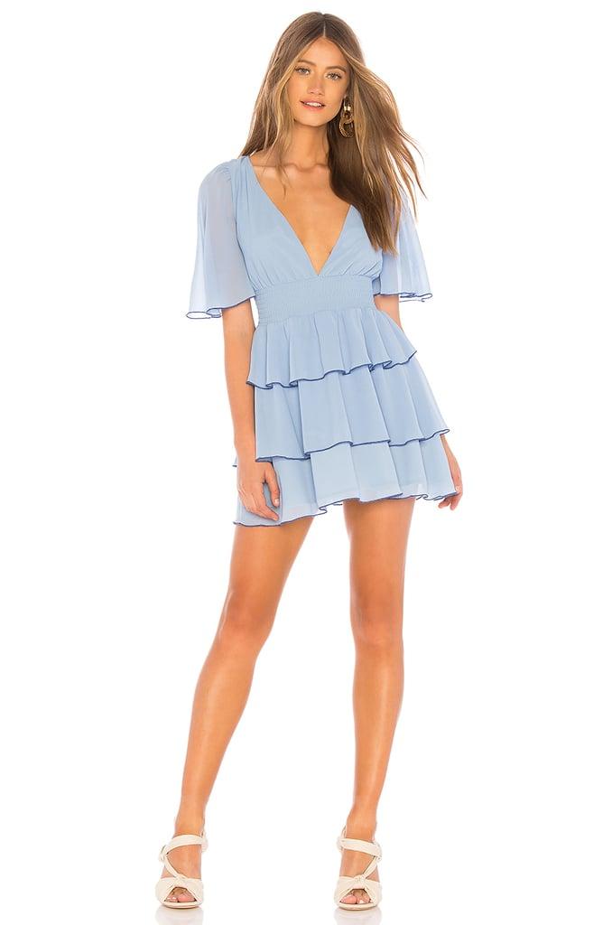 Cinderella: Lovers + Friends Billie Powder Blue Minidress