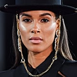 Cindy Bruna's Chic Head Topper