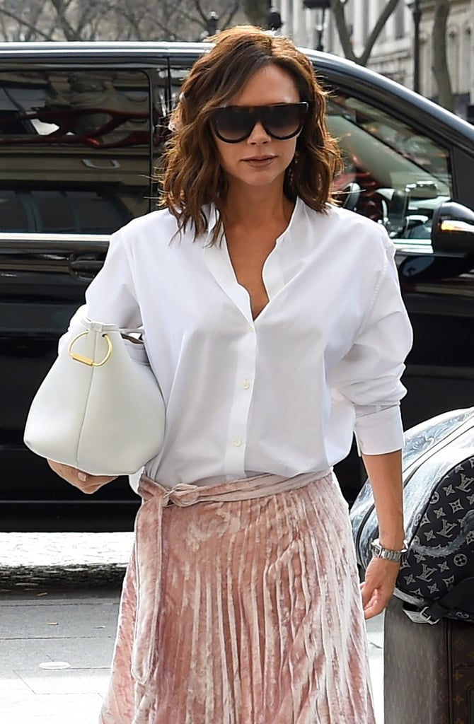 We Found a Version of Victoria Beckham's Blush Velvet Skirt For $75