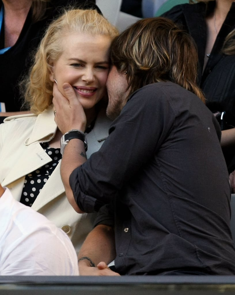 Keith gave Nicole a kiss at the 2008 Australian Open.