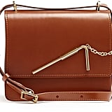 We love the mix of leather and hardware on this Sophie Hulme Straw Medium Leather Shoulder Bag ($515).