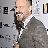 David Arquette looked ecstatic on the red carpet at the Creative Coalition Night Before Dinner Sunday.