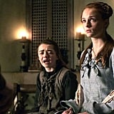 Arya and Sansa From Game of Thrones