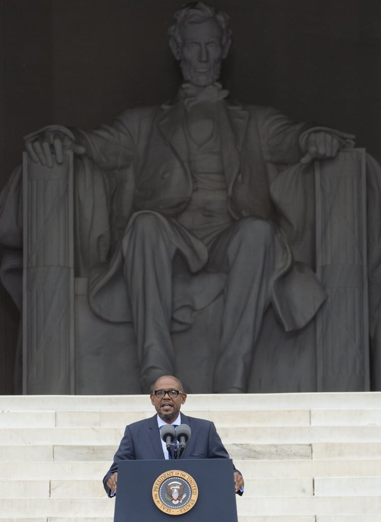 Actor Forest Whitaker stepped up to the podium to speak at the event in Washington DC.