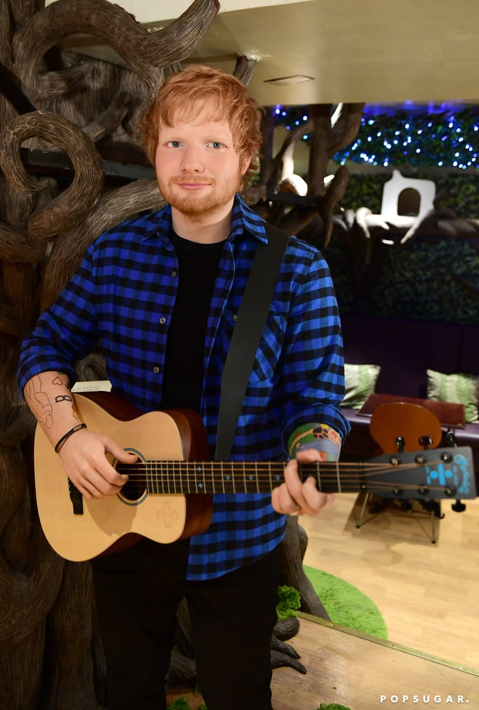 """Celebrity wax figures don't always look exactly like the star they're modelled after, but in Ed Sheeran's case, we almost confused his man-made doppelgänger with the real Ed! On Tuesday, Madame Tussauds unveiled Ed's latest wax figure at Lady Dinah's Cat Emporium in London, and yes, they even accounted for Ed's adorable cats. Between the spot-on facial features and the identical tattoos, we honestly had to do a triple take.   """"Ed Sheeran is undoubtedly one of the biggest musicians of our time and with his sold-out tour about to hit Wembley this week, it felt like there was no better time to launch his figure here at Madame Tussauds London. And knowing what a pet-lover he is, launching the figure at London's renowned cat café felt like something the man himself would surely approve of,"""" Madame Tussauds General Manager Edward Fuller said in a statement.  This is Ed's second wax figure, as he already has one in NYC. You can check it out in London starting on June 19.       Related:                                                                                                           43 Celebrities Who Want to Be Taken Into Ed Sheeran's Loving Arms"""
