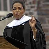 Oprah spoke to, and pointed for, Duke University's class of 2009.