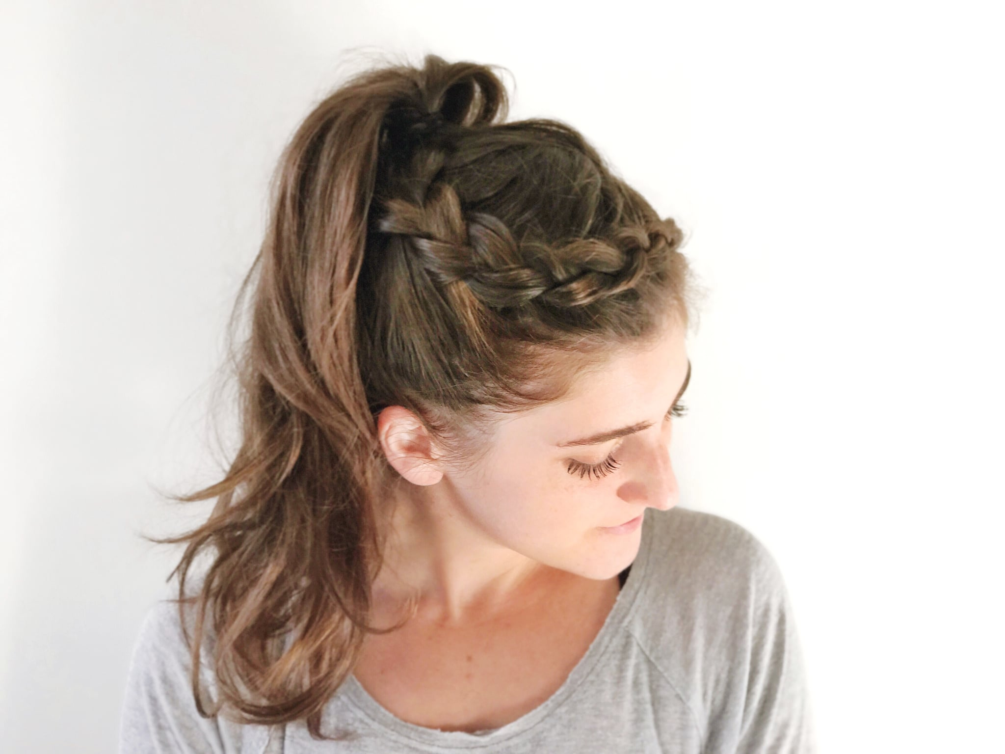 Hair Styles With Braids: Easy Braid Hairstyle For The Gym