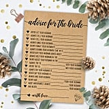Advice For the Bride Printable Bridal Shower Game