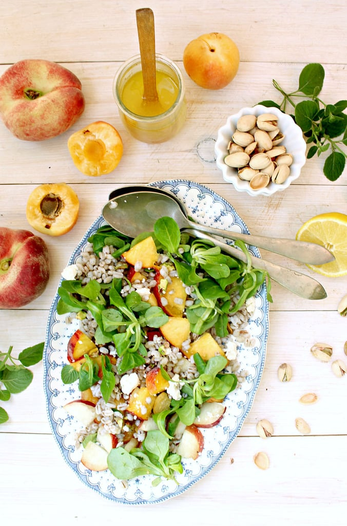 Stone Fruit and Barley Salad With Pistachios and Feta
