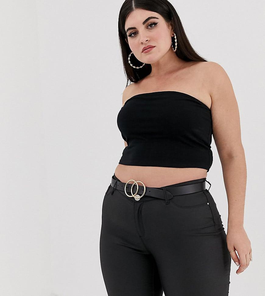 ASOS Design Curve Crop Bandeau Top in Black