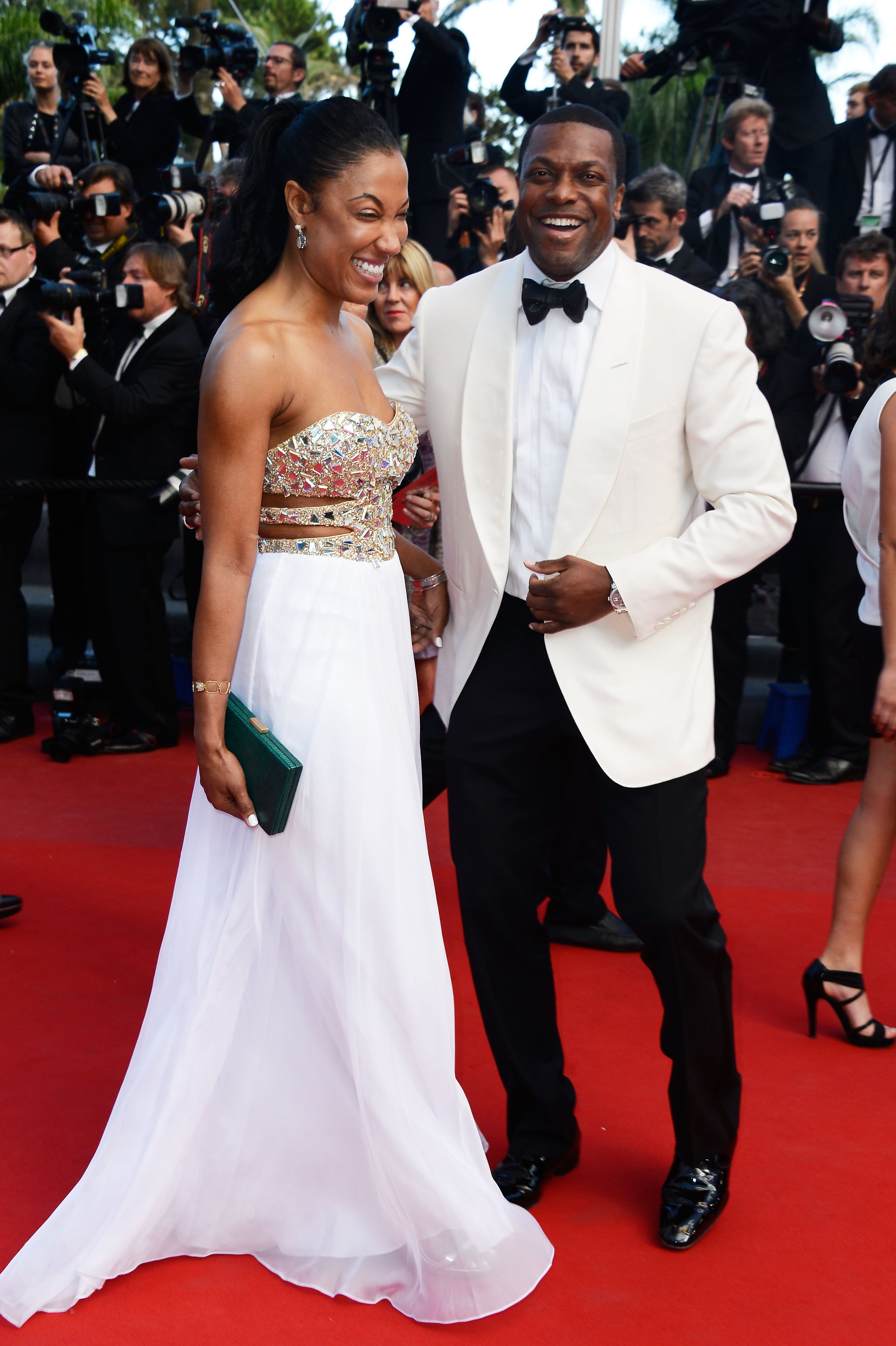 Chris Tucker brought a date to the Cannes Film Festival premiere of Cleopatra on Tuesday.