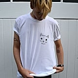 White Cat Face T-Shirt ($25)
