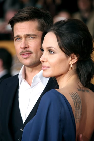 Brad Pitt and Angelina Jolie Interviewed on SAG Award Red Carpet