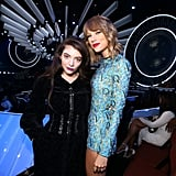 Taylor Swift and Lorde at the 2014 VMAs