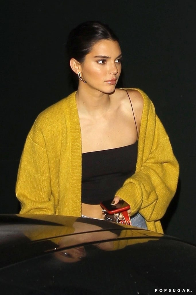 Kendall Jenner Yellow Cardigan 2018
