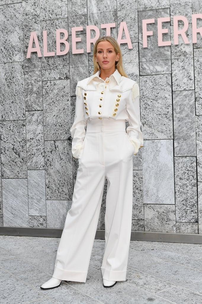 Ellie Goulding at the Alberta Ferretti Milan Fashion Week Show