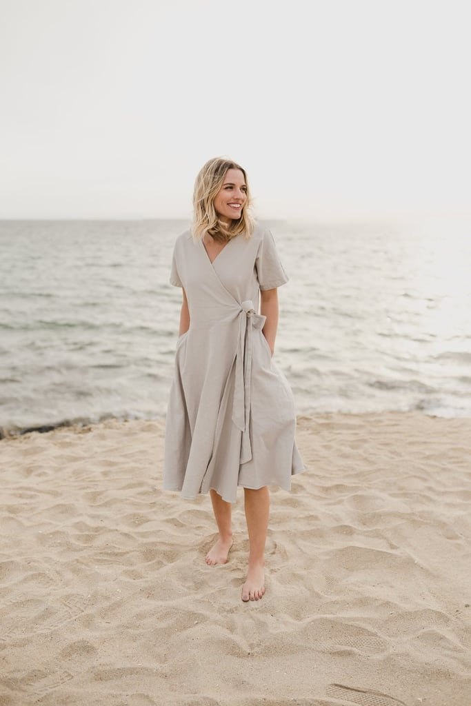 e093aacdfd5 Mien Studios Kindred Wrap Dress in Stone Grey