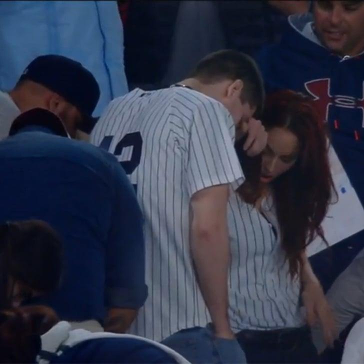 Guy Drops Engagement Ring During Yankee Stadium Proposal Popsugar