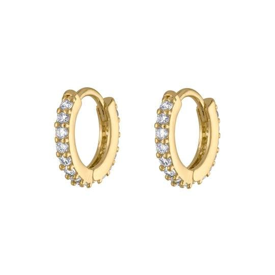 Maison Miru Mini Eternity Hoop Earrings