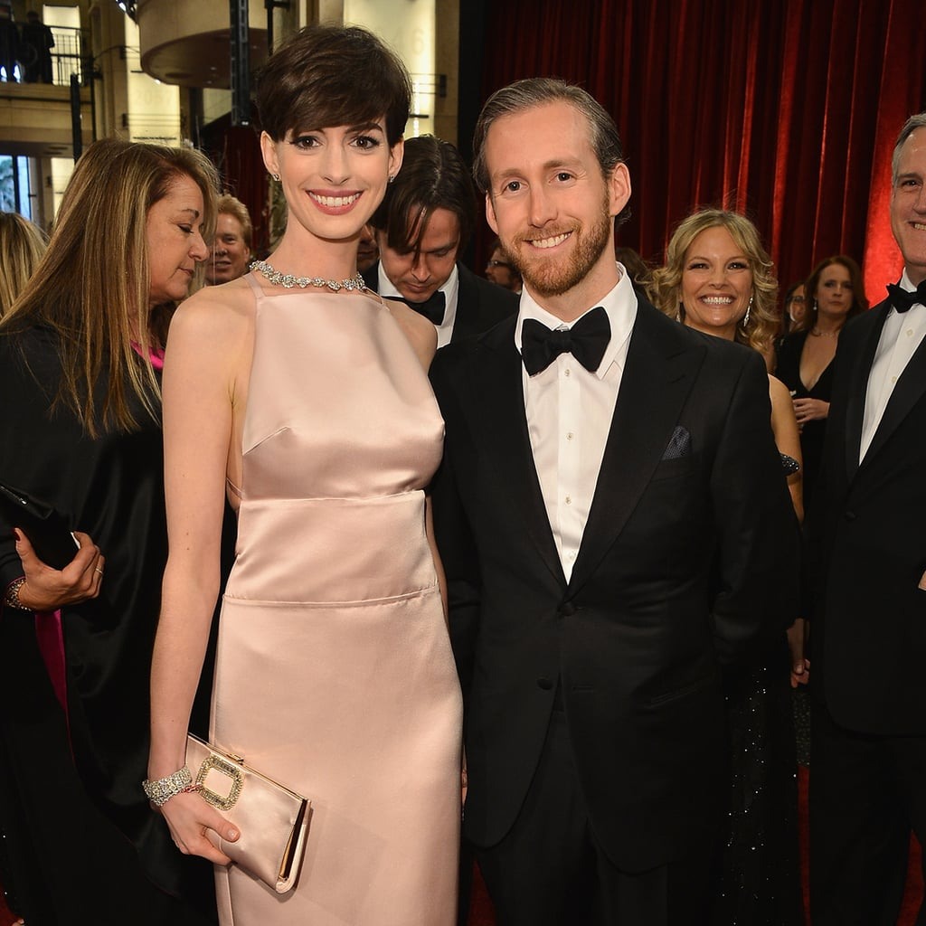 Anne Hathaway Boyfriend: Anne Hathaway And Adam Shulman At The Oscars 2013