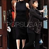Charlize Theron leaving The Today Show in NYC.