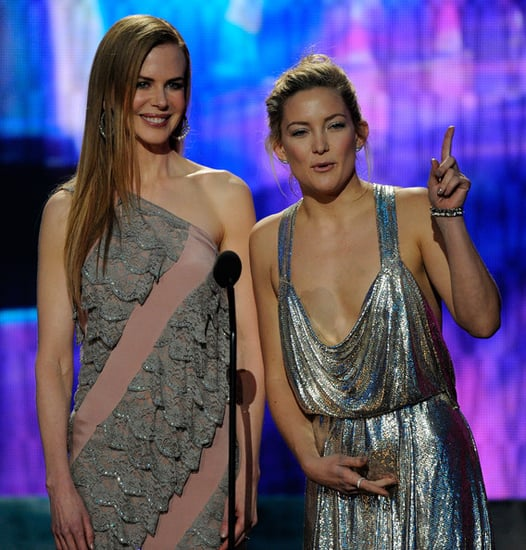 Nicole Kidman and Kate Hudson onstage at the 2009 American Music Awards
