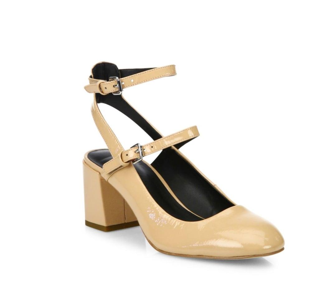 Rebecca Minkoff Brooke Patent Leather Mary Jane Block-Heel Pumps ($195)