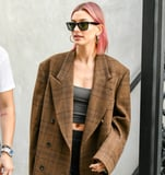 Hailey Baldwin Just Said  Bye-Bye, Blond  and Debuted a Cotton-Candy Pink Hair Color