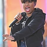Jennifer Hudson hit the high notes with poise while performing on Today on Tuesday in NYC.