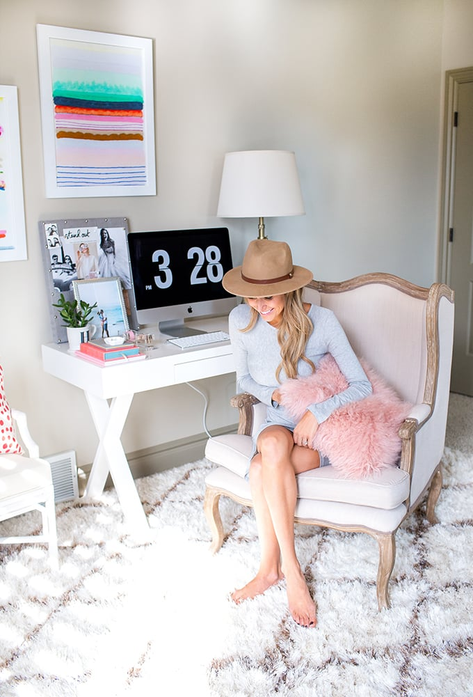 The fashion blogger admits she was out of her comfort zone when it came to dressing her home interiors but — with effort and patience — she was able to translate her stellar fashion sense into a stunning space.