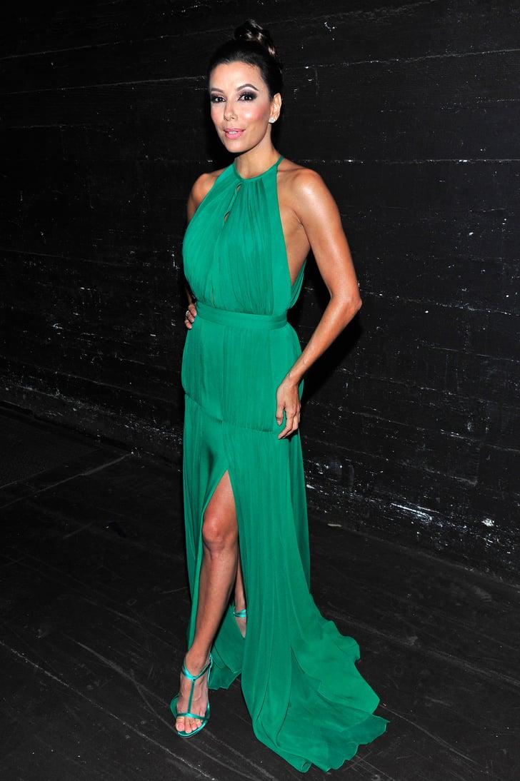 Longoria Took A Break From Cohosting The 2013 Alma Awards To Slip Eva Longoria Bright Dresses