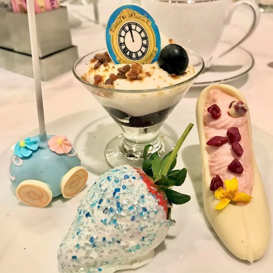 Disneyland's Cinderella High Tea Has Sparkly Blue Cocktails