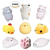 Mini Squishy Animal, 9 Styles ($8 for pack of nine)