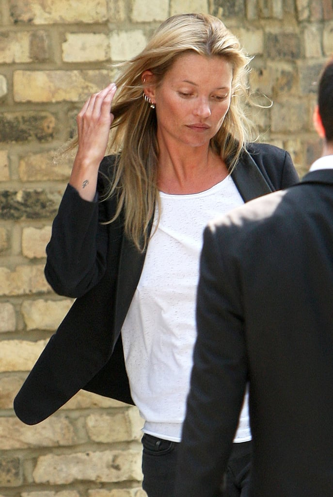High-Earning Kate Moss Minds Her Business at a Lunch Meeting