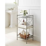 Square Tube 3-Tier Decorative Storage Cabinet