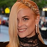 Jaime King wore a gold Dauphines of New York crown.
