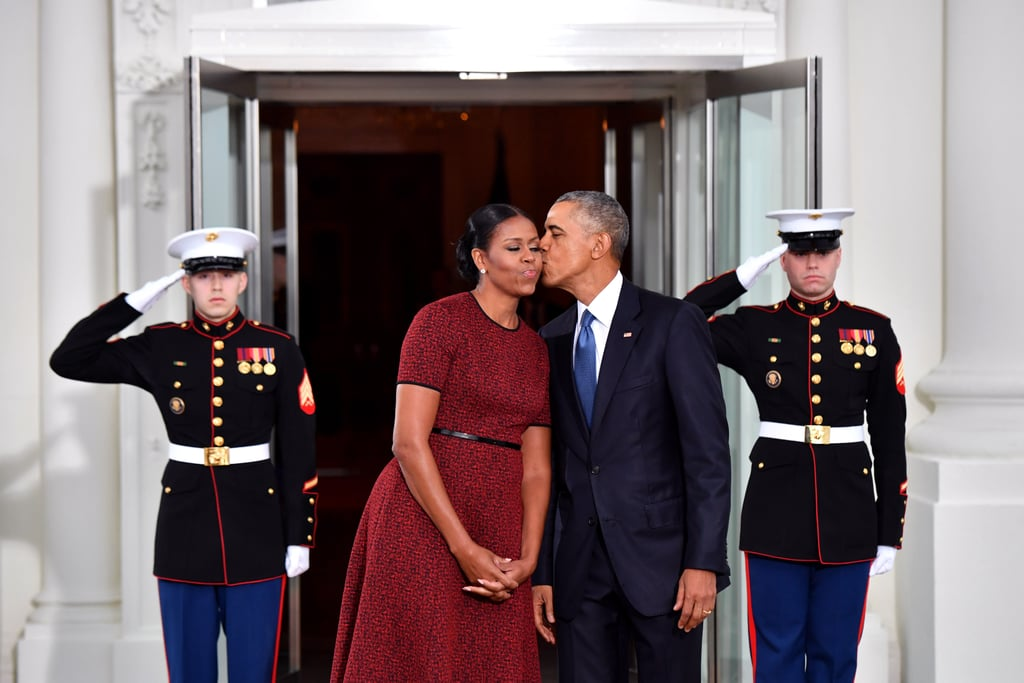 Barack Planted a Sweet Kiss on Michelle Before Officially Leaving the White House