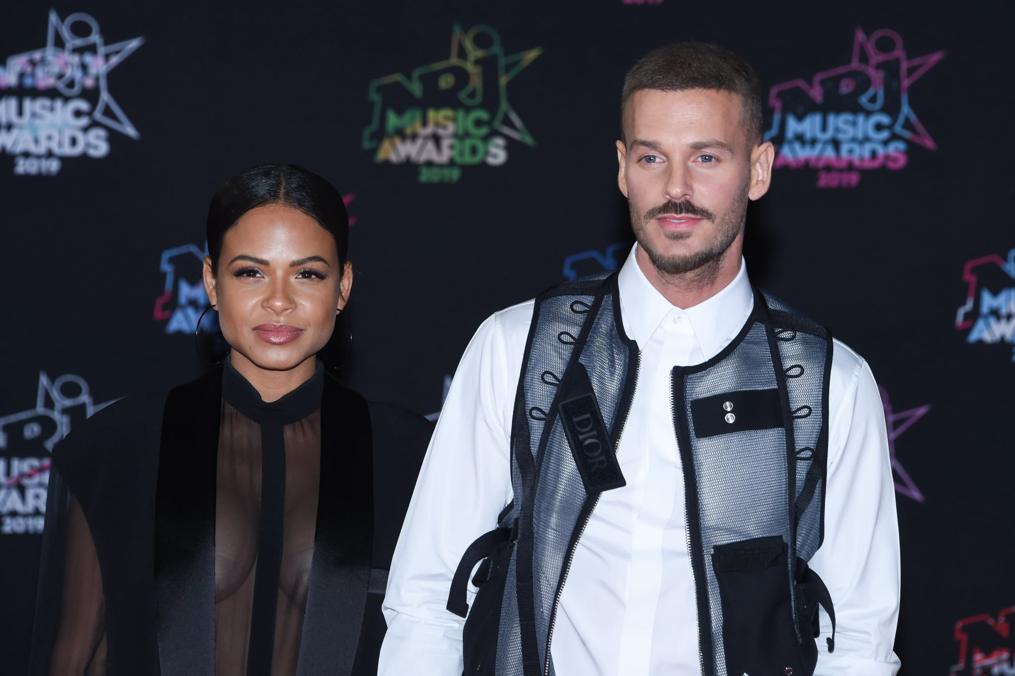 CANNES, FRANCE - NOVEMBER 09: : Christina Milian and Matt Pokora attend the 21st NRJ Music Awards At Palais des Festivals on November 09, 2019 in Cannes, France. (Photo by Stephane Cardinale - Corbis/Corbis via Getty Images)