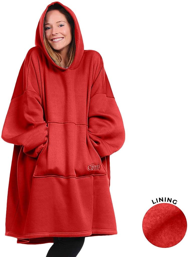 The Comfy Oversize Sweatshirt Hoodie in Red