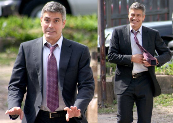 Photos of George Clooney on the Set of Up in the Air in St. Louis