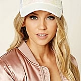 Forever 21 Iridescent Sequin Trucker Hat