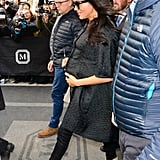 February: Meghan touched down in NYC for a few days of catching up with famous friends and celebrating her baby shower.