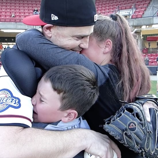 Military Dad Surprise Homecoming at Baseball Game