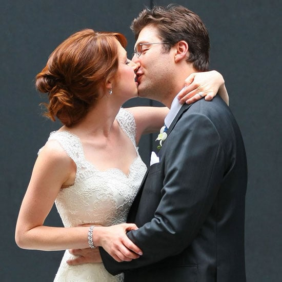 Ellie Kemper and Michael Korman after their wedding.