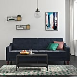 Novogratz Vintage Tufted Velvet Split-Back Futon in Blue
